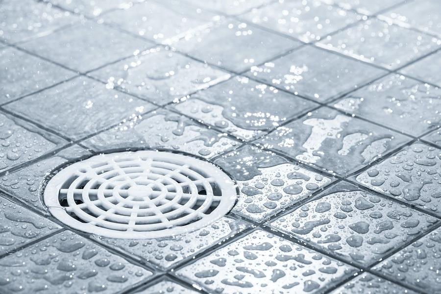 bathroom floor water draining properly